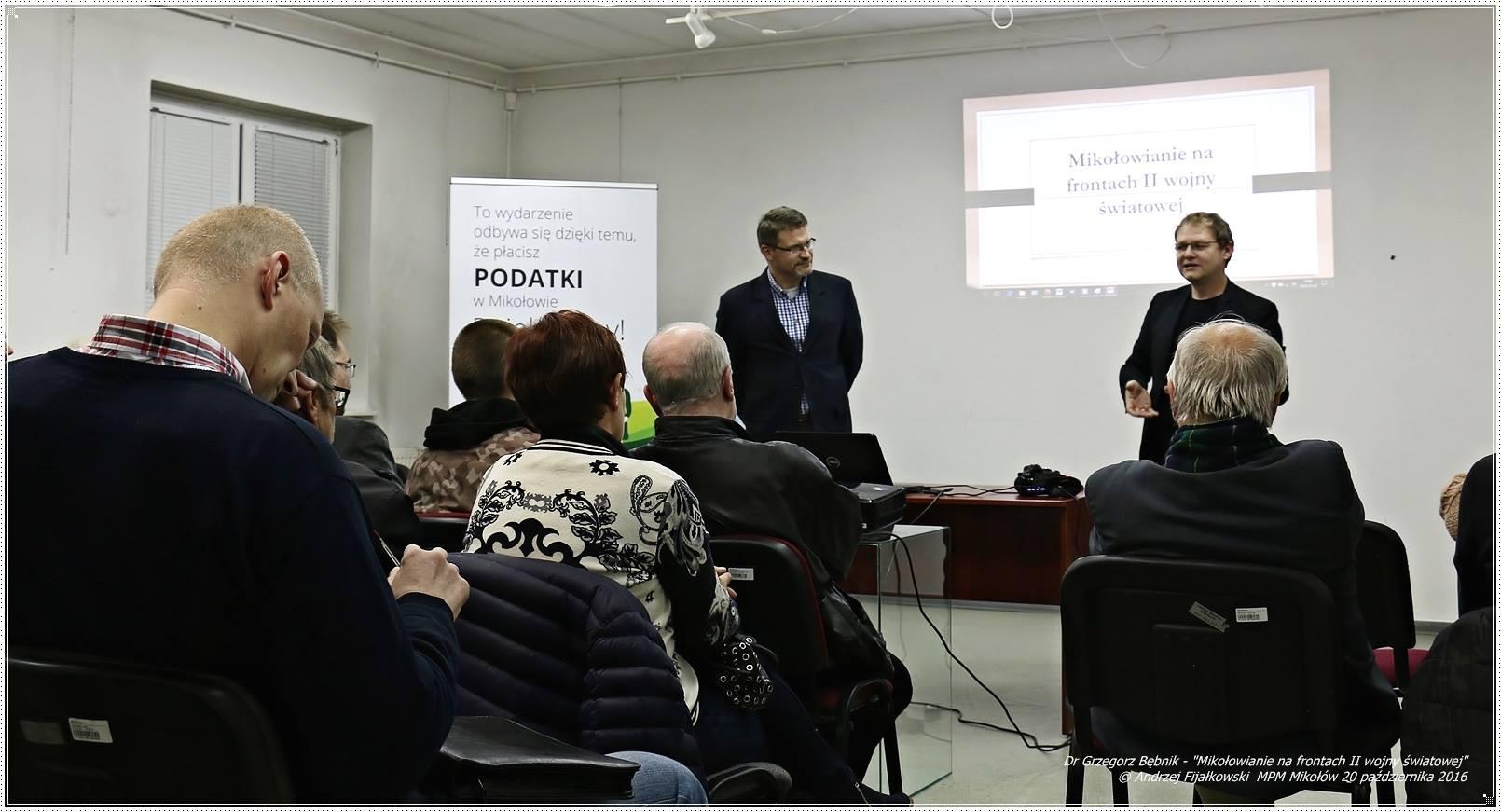 20 października br. o godz. 18.00 w Miejskiej Placówce Muzealnej odbył się  wykład dr Grzegorza Bębnika